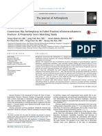 Conversion Hip Arthroplasty in Failed Fixation of Intertrochanteric Fracture A Propensity Score Matching Study
