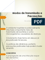 Transmissão de doenças por bactérias e precauções
