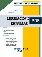 LIQUIDACION DE EMPRESAS