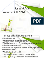 Unit 8 Ethics and Fair Treatment in Human Resources Management