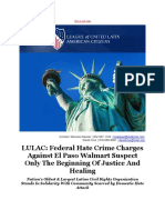 LULAC Federal Hate Crime Charges Against El Paso Walmart Suspect Only the Beginning of Justice and Healing