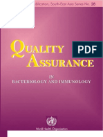 Quality Assurance in Bacteriology and Immunology Quality Assurance in Bacteriology and Immunology 2002