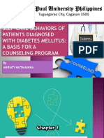 SELF-CARE BEHAVIORS OF PATIENTS DIAGNOSED WITH DIABETES MELLITUS.pptx