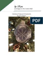 PROJECT KBK Christmas Potpourri Ornaments Nov-Dec 2013 - INSTRUCTIONS