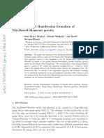 De Donder-Weyl Hamiltonian formalism of MacDowell-Mansouri gravity