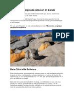 Especies en peligro de extinción en Bolivia.docx