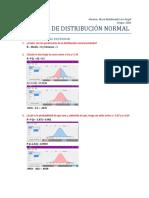 Ejercicio de Distribucion normal
