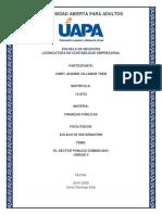 FINANZAS PÚBLICAS - TAREA UNIDAD II