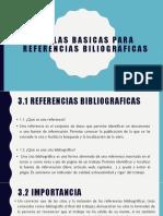 REGLAS BASICAS PARA Referencias BILIOGRAFICAS