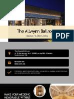 The Allwynn Ballroom_Wedding Package 2020
