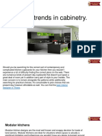 Latest Trends in Cabinetry.