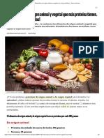 Alimentos de origen animal y vegetal con más proteínas - Gana músculo