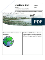 Ecology Interactions Unit Assessment Homework for Educators - Download at www. science powerpoint .com