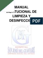 M-SS-MA-01 MANUAL INSTITUCIONAL DE LIMPIEZA Y DESINFECCION