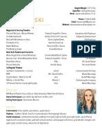 theresa kosmowski resume