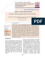 """Postbiotics"" - One Step Ahead of Probiotics"