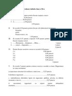 Evaluare initiala clasa a XI