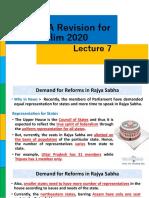 POLITY - December CA Revision for Prelim 2020