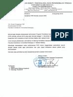 Jadwal P4R MKDU Jan 2020