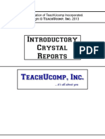 Crystal Reports Introductory