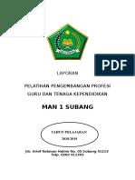 laporan pelaksanaan PELATIHAN DAN PENGEMBANGAN PTK