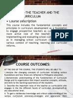 Prof.ed 5 - The Teacher and the School Curriculum Course