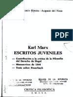 Karl Marx. Escritos Juveniles - José Antonio Riestra y Augusto del Noce (V)