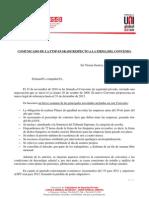 Comunicado de F.T.S.P Euskadi Respecto Al Convenio