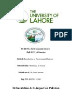 Deforestation  & its  impact on Pakistan