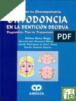ORTODONCIA EN LA DENTICIÓN DECIDUA. DIAGNÓSTICO, PLAN DE TRATAMIENTO Y CONTROL DE SANO, RODRIGUEZ Y DUARTE