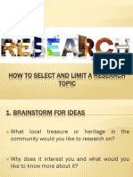 How to select and limit a research topic.pptx
