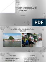 ELEMENTS of WEATHER and CLIMATE