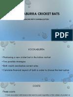 Kookaburra cricket bats For Students