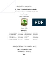 MAKALAH KELOMPOK 3 KERANGKA KONSEP, VARIABEL, HIPOTESIS, DEFINISI OPERASIONAL