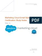 Marketing Cloud Email Specialist Certification Study Notes