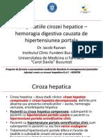 2_Iacob R_Complicatiile cirozei hepatice – HTP, hemoragia digestiva superioara