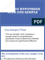 Testing hypothesis with one sample