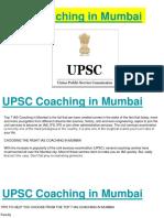 UPSC Coaching in Mumbai
