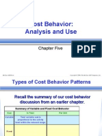 Cost Behavior Analysis & Use)