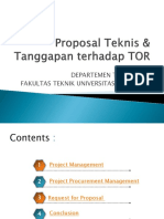 Proposal Teknis - Manajemen Proyek 2012