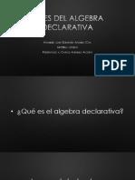 LEYES DEL ALGEBRA DECLARATIVA