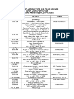 program and sked of games