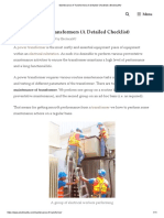 Maintenance of Transformers (A Detailed Checklist) _ Electrical4U
