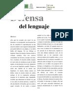 Pedro Salinas en Defensa del Lenguaje - Fragmentos