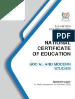 Social and Modern Studies (N570)
