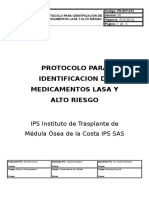 PR-SF-013 PROTOCOLO MEDICAMENTOS LASA