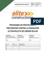 ELI.ESO.CMZ-002 PROGRAMA DE PROTECCIÓN Y PREVENCIÓN CONTRA LA RADIACIÓN ULTRAVIOLETA DE ORIGEN SOLAR