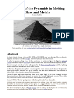 The Role of the Pyramids in Melting Glass and Metals