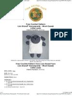 Crochet Pattern - Lion Brand Yarn - Little Lamb