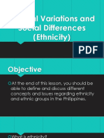 3. Cultural Variations and Social Differences (Ethnicity)